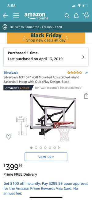 """Basketball Hoop, Silverback 54"""" Wall Mounted for Sale in Fresno, CA"""