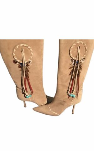 Jimmy Choo Camel 68 Suede Knee High Boots for Sale in Cleveland, OH