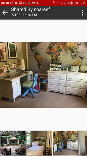 pottery barn teen bedroom set desk set with lots of extras originally well over $3000 open to reasonable offers for Sale in Tracy, CA
