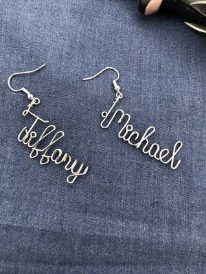Custom Wire Nameplate Earrings for Sale in Garfield Heights, OH