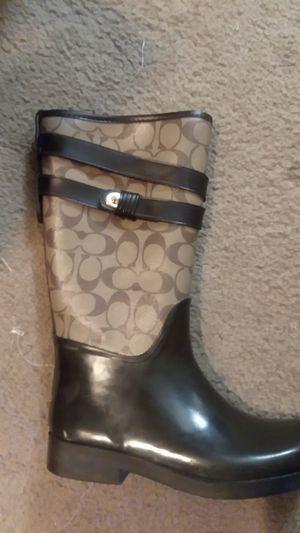 coach rain boots size 7 for Sale in Las Vegas, NV