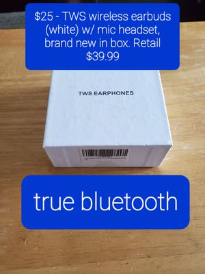 TWS true bluetooth headphones/buds for Sale in Tampa, FL