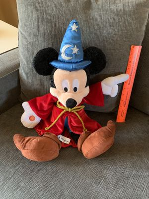 Authentic Wizard Mickey Plushie- Like New! for Sale in Marysville, WA