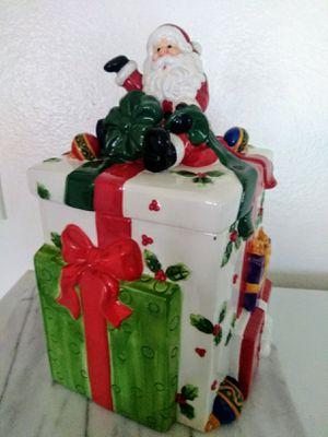 Vintage Ceramic Christmas Cookie Jar for Sale in Santa Fe Springs, CA