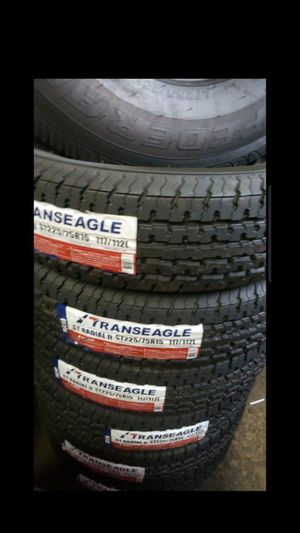 Trailer tires 10ply 225 75 15 $250 set of 4 for Sale in Phoenix, AZ