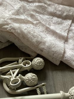 Shabby Chic rod And Curtains for Sale in Manassas,  VA