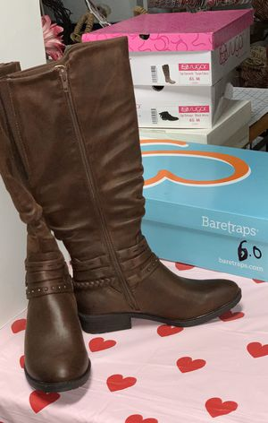 BOOTS! Brown Size 6 BRAND NEW w BOX for Sale in West Columbia, SC