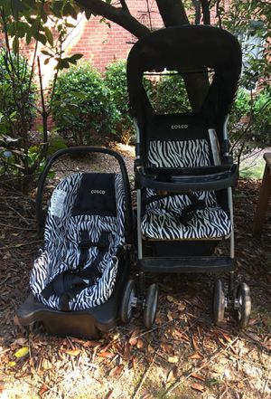 Stroller and car seat set - Cosco, black and white for Sale in Mableton, GA