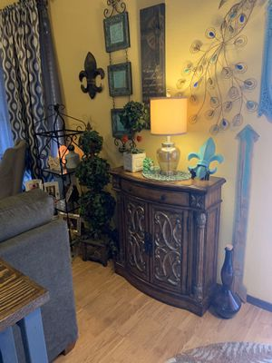 """Decorative cabinet It's 35"""" tall. 32"""" wide. 12""""deep all wood drawer storage for Sale in Midwest City, OK"""