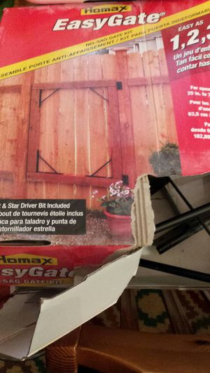 Homax EasyGate No-Sag Gate Kit Fense Gate Shed Repair Building Materials New for Sale in Austin, TX