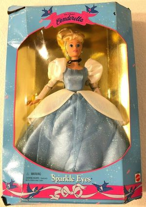 Vintage Walt Disney's Sparkle Eyes Cinderella Doll - Never Removed From Box for Sale in Wilmington, NC