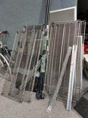 1 set of 6' metal shelves $50 for Sale in Hialeah, FL