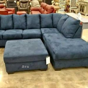 Darc Blue Sectional RAF LAF available $39 DOWN for Sale in Elkridge, MD