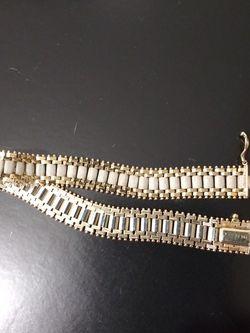A BEAUTIFUL PURE 14K GOLD LADY BRACELET 18 GRAMS SIZE 8 FOR SALE for Sale in Manassas,  VA