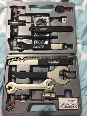 Bicycle bundle includes Spin Doctor Repair Kit, Vibrelli Hand pump, Bicycle Owners Repair Guide, Park Tool Polylube for Sale in Miami, FL
