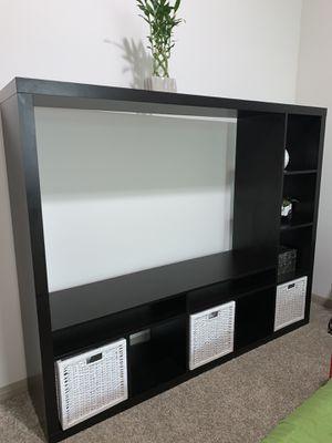 TV Storage unit, black brown for Sale in Houston, TX