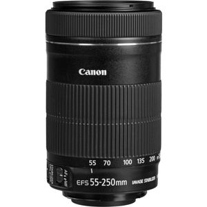 Canon - EF-S 55-250mm f/4-5.6 IS STM Telephoto Zoom Lens for Select Cameras - Black for Sale in Miami, FL