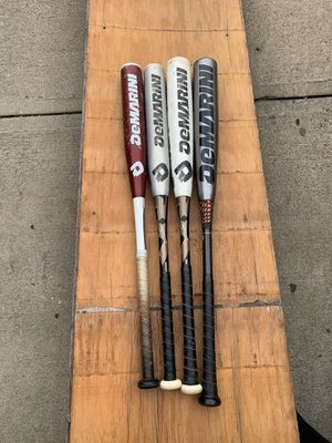 4 Demarini Adult/High School Baseball Bats ($1,300 Value!) for Sale in Queens, NY