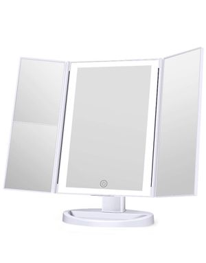 Brand New Makeup Mirror with lights, 3 Color Lighting Vanity Mirror, 1x 2x 3x Magnification, Touch Screen Switch,180 Degree RotationRotation, Dual for Sale in Greenbelt, MD