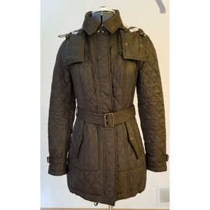 Burberry Brit Quilted Black Winter Coat Jacket Size Small for Sale in El Paso, TX