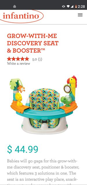 Infantino booster chair for Sale in Fontana, CA