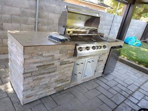 Straight bbq island with grill and fridge for Sale in Riverside, CA