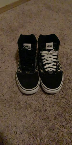 Black and White checkered vans (mitch match shoelaces) for Sale in Kent, WA