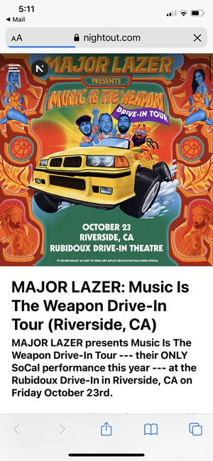 Major lazer for Sale in Downey, CA