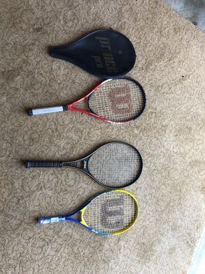 3 pro tennis rackets and 1 case for Sale in Durham, NC