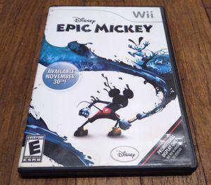 Nintendo Wii Disney's Epic Mickey for Sale in Pasadena, CA