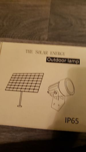 Solar Energy outdoor lamp for Sale in Atlanta, GA