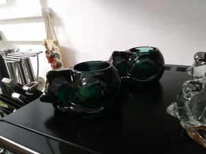 6 glass cat candle holders for Sale in Baltimore, MD