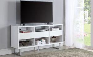 New White juniper modern tv Stand console table for Sale in Miami, FL