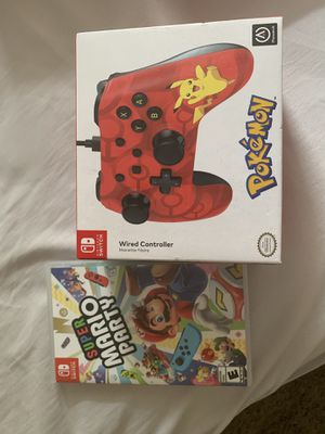 Super Mario Party Nintendo Switch and Wired Controller for Sale in Winter Springs, FL