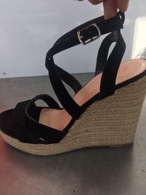 Black wedge heels for Sale in San Jose, CA