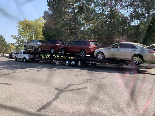 2015 down to earth 3-4 car trailer