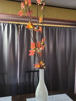 Vase With Fake Branches And String Lights for Sale in Ellensburg,  WA