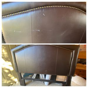 Queen size leather head board for Sale in Joint Base Lewis-McChord, WA