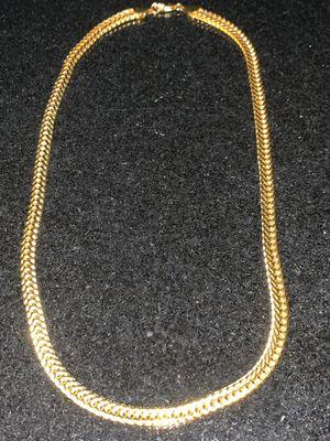 "New 20"" Gold Plated Herringbone 18K Mens/Women's Cuban Chain for Sale in Beverly Hills, CA"