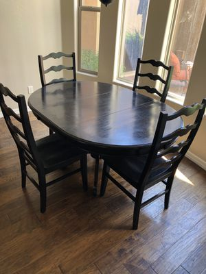 Black Kitchen Dining Table and 4 Chairs for Sale in Phoenix, AZ