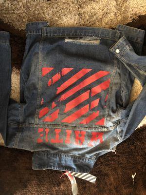 Off white denim jean jacket for Sale in Washington, DC