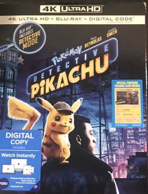 Pokemon: Detective Pikachu 4K + Blu-ray for Sale in Wadsworth, OH