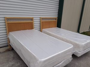 Matching wicker twin beds for Sale in Tampa, FL