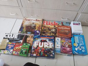 Board Games/ cards/puzzle for sale! - Risk, Ticket To Ride, Clue, Uno- MAKE AN OFFER for Sale in Miami, FL