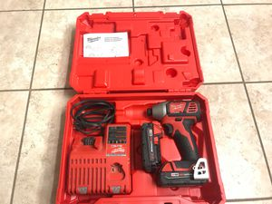 Milwaukee 18v 1/4 inch Impact Driver 2 batteries and charger with hard case for Sale in Glendale, AZ