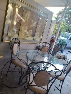 Glass table an 4 chair for Sale in Lake Worth, FL