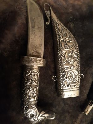 Sliver handle and sheathe very very old for Sale in Spokane, WA