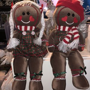 Christmas Decor Gingerbread girl and boy for Sale in Stockton, CA