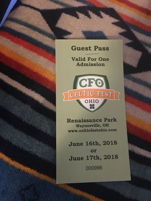 Celtic fest tickets for Sale in Marion, OH