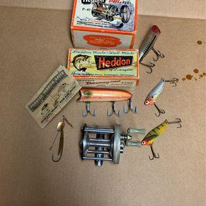 Vintage Heddon Dowagiac Lure,Heddon Fishing Reel for Sale in Utica, NY
